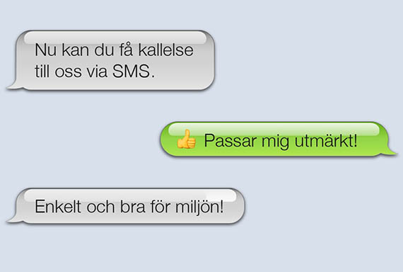Ny kan du få kallelse via SMS